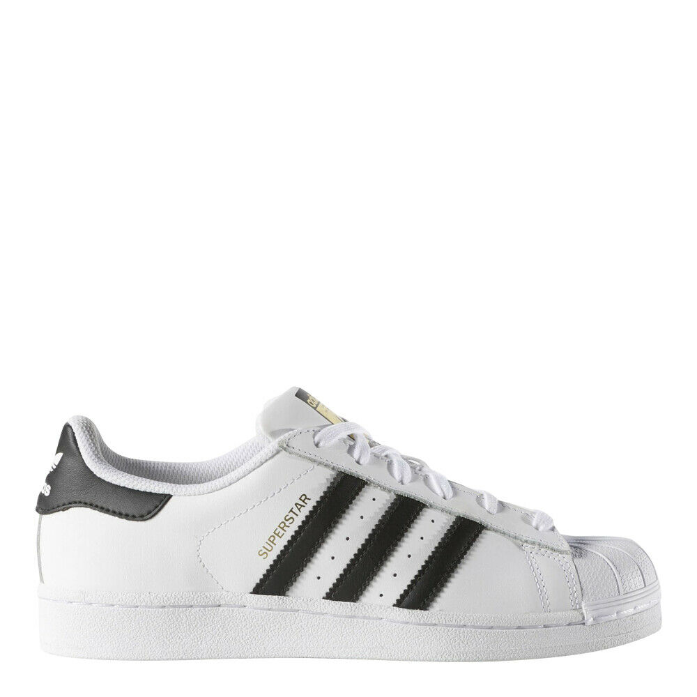 adidas Women's Originals Superstar Shoes: White/Black/Gold -
