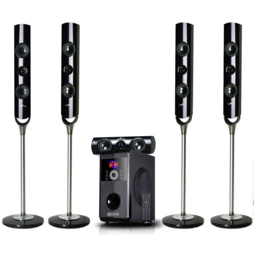 beFree Sound 5.1-Channel Bluetooth Speaker System Black 91592800M