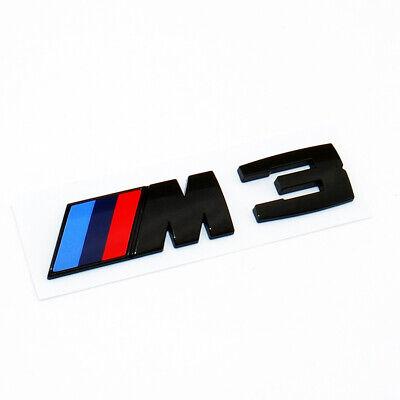 E90 E91 E92 Gloss Black Competition M3 Logo Emblem Badge Trunk OEM M Performance
