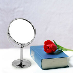 Double Sided Round Magnifying Bathroom Make Up Cosmetic Shaving Vanity Mirror