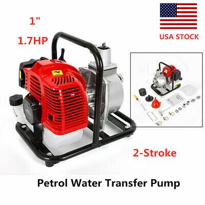 2-stroke Petrol Water Transfer Pump High Flow Flood Irrigation Water Pump 1.7hp