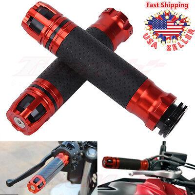 7/8'' 22mm Aluminum Gel Motorcycle Hand Grip Throttle Handlebar Rotatable Custom