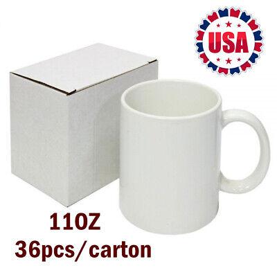 36pcscarton Blank Sublimation Mugs 11oz Coated Mugs For Heat Press With Box