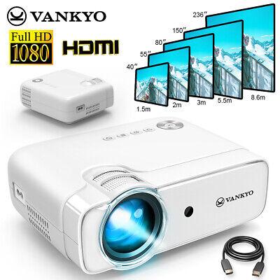 VANKYO Leisure 430 LED Smart Projector Video HD 1080P Home Theater HDMI USB VGA