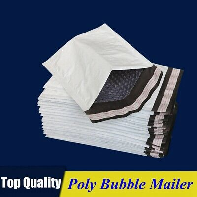 Poly Bubble Mailers Padded Envelopes Shipping Bags Self Seal Multiple Sizes ()