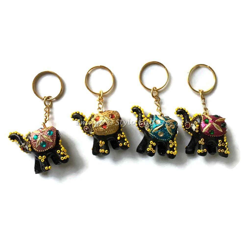 Bohemian Elephant Hand Carved Keychains Keyrings For Teacher
