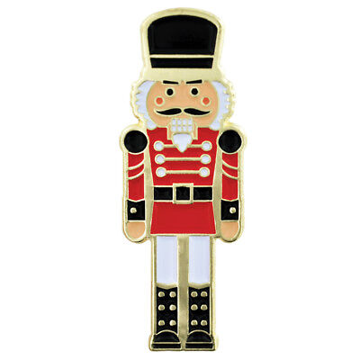 Holiday Enamel - PinMart's Festive Nutcracker Holiday Christmas Enamel Lapel Pin