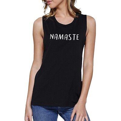 Namaste Muscle Tee Work Out Tank Top Cute Womens Yoga T Shirt