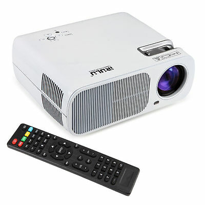 IRULU 3D Projector WIFI Android 4.4 1080P LCD LED Home Theater Cinema HDMI White