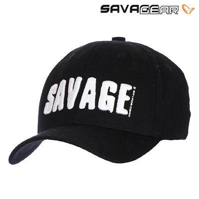 SAVAGE GEAR SIMPLY SAVAGE 3D LOGO CAP CARP FISHING BASEBALL HAT (THE COLLECTION)