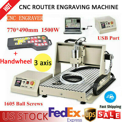 Usb 3 Axis 1500w Cnc 6040 Router Engraver Wood Drillmilling Machinecontroller