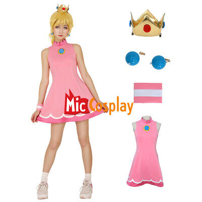 Mario Tennis Princess Peach Cosplay Costume - Princess Peach Dress