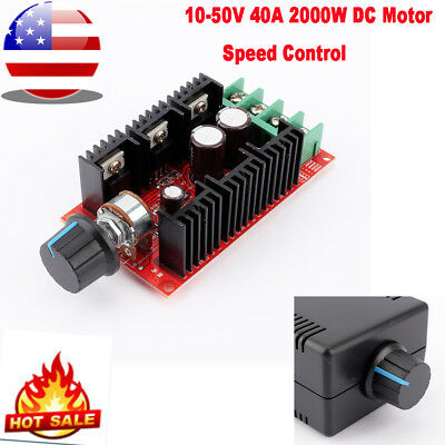 Dc Variable Regulator Controller Pwm Dc 40a Motor Speed Switch Control W Case