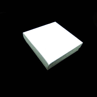 100 White Swirl Cotton Filled Jewelry Gift Boxes 3 12 X 3 12 X 1