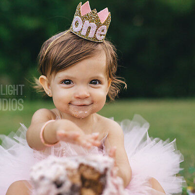 Birthday Crown Tiara Headband for Baby Girls Kids Party Hair Bands Accessories - Tiara For Birthday