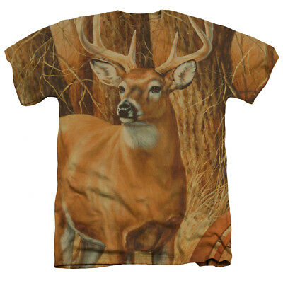Wild Wings Wildlife Art Big Buck Deer MEADOW DWELLER Heather T-Shirt All Sizes ()