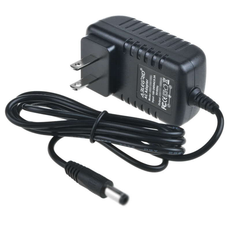 9 Volt DC Power Supply AC Wall Adapter 5.5/2.5mm 9V 9VDC 300ma Center Negative