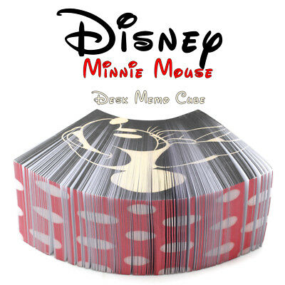 Disney Minnie Mouse Desk Memo Cube Office Paper Stationery Supply