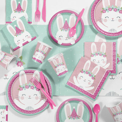 - Bunny Party Birthday Party Supplies Kit