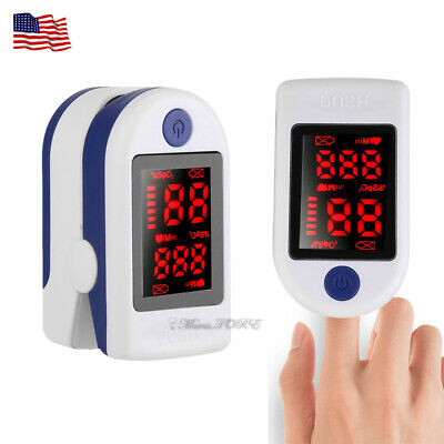 Fda Spo2 Finger Tip Pulse Oximeter Blood Oxygen Heart Rate Monitor Meter Us