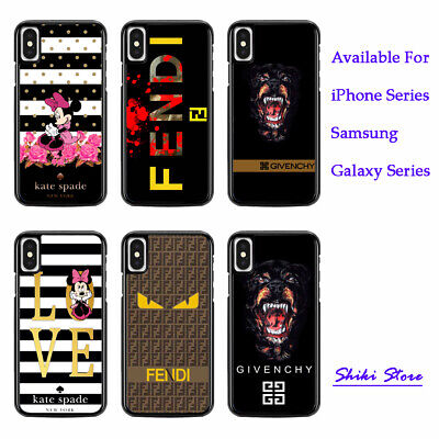 Best Logo Kate4Spade Fendi7Givenchy Cover iPhone XS MAX XR X 6/7/8 Samsung Case