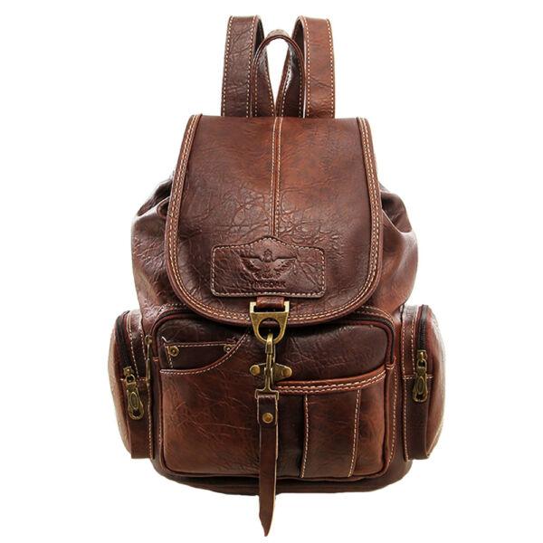 Vintage Womens Leather Backpack Shoulder School Shoulder Satchel HandBag Travel 1