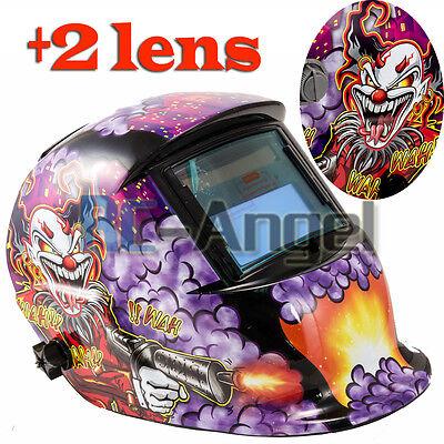 Pro Solar Welder Mask Auto-darkening Welding Helmet Arc Tig Mig Grinding