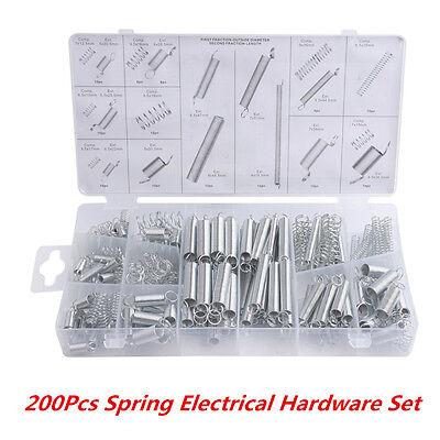 200 Pcs Steel Spring Electrical Hardware Extension Tension Springs Pressure Set