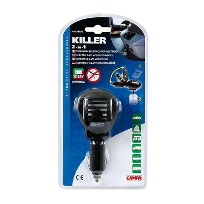 Difusor Eléctrico Insecticida Anti Mosquitos Killer 2 IN 1 12/24V Auto Camión