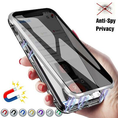 Magnetic Anti-peep Double Side Phone Case for iPhone 11 Pro X XR XS Max 7 8 Plus