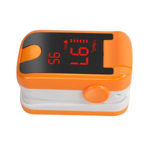 LED Fingertip Pulse Oximeter Blood Oxygen meter SpO2 Pulse Rate Monitor, Orange