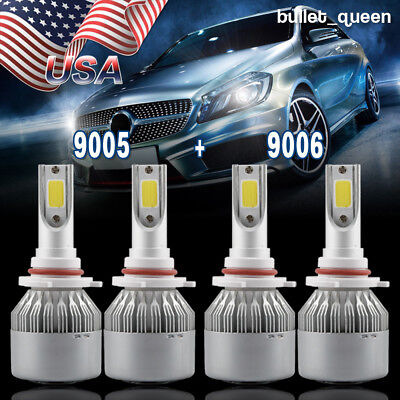 Combo 9005 9006 Led Headlight Bulb Kit For Honda Civic 2004 2013 High   Low Beam