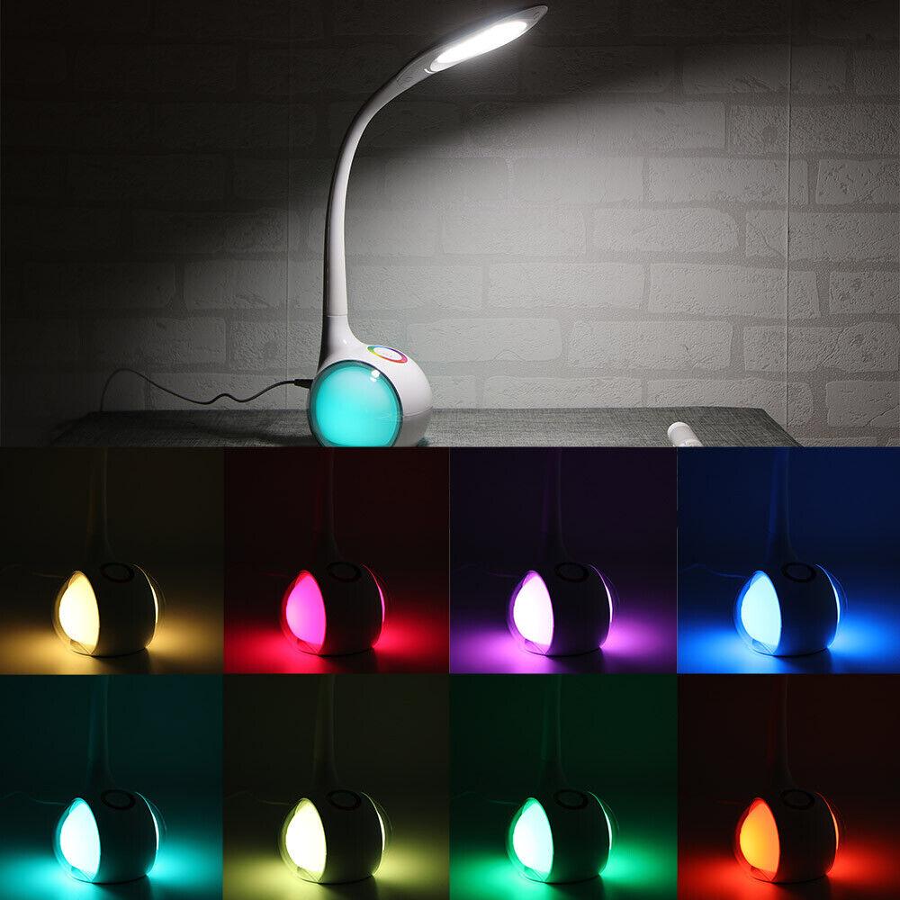 5W Dimmbar LED Schreibtischlampe Touch Kinder Tischleuchte Leselampe Büroleuchte