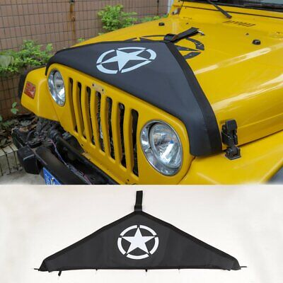 For 1997-2006 Jeep Wrangler TJ Accessories Front Hood Cover Protector Black Star