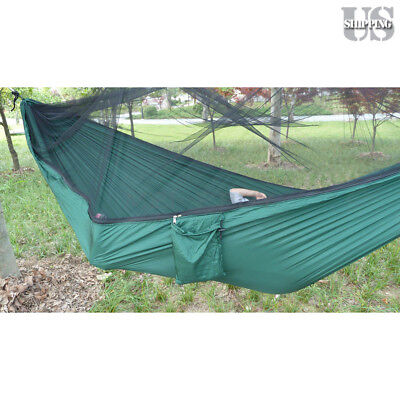 Double Outdoor Person Travel Camping Hanging Hammock Bed with Mosquito Net Set - Hammock Bed Set