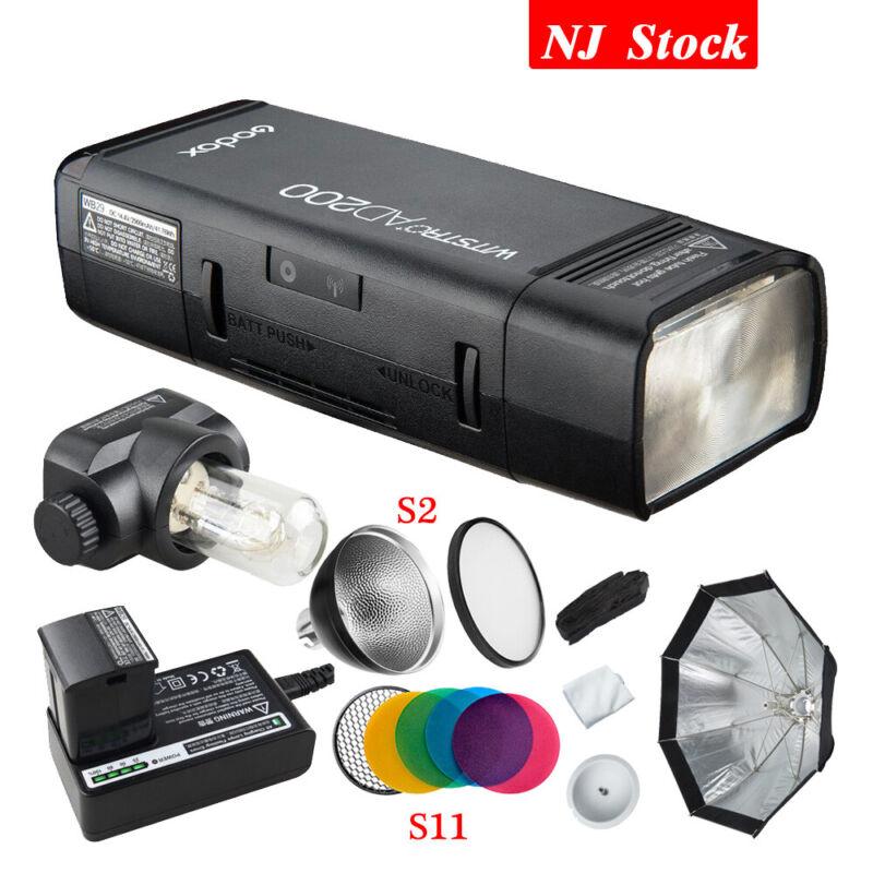 Godox AD200 2.4G Dual Head Pocket Flash AD-S7 Grid Softbox F Canon Nikon Sony