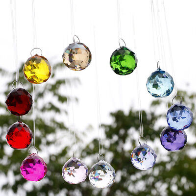 Hongville Fancy Crystal Ball Prisms Pendant Feng Shui Suncatcher For - Crystal Suncatchers