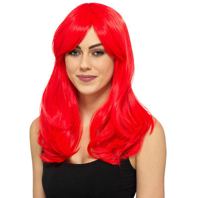 Halloween Costumes Red Wigs (Claire's Womens Premium Red Halloween Wig Costumes One)