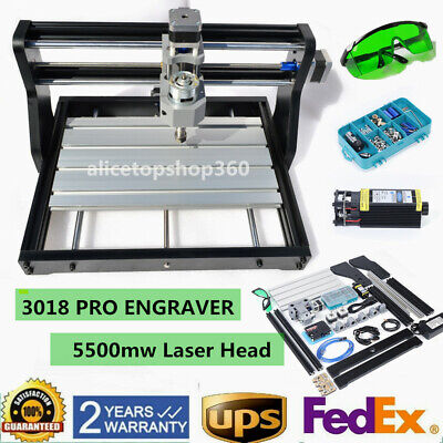 Cnc 3018 Pro Diy Router 2 In 1 Engraving Wood Milling With 5500mw Laser Head