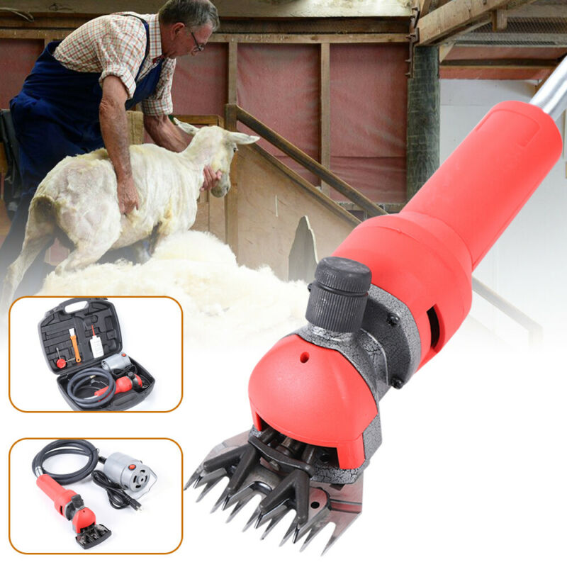 750W Electric Flexible Shaft Sheep Goat Shearing Machine Wool Clipper Set