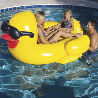 Game Giant Riding Derby Duck Swimming Pool Inflatable Float Lounge (Inflatable Duck)