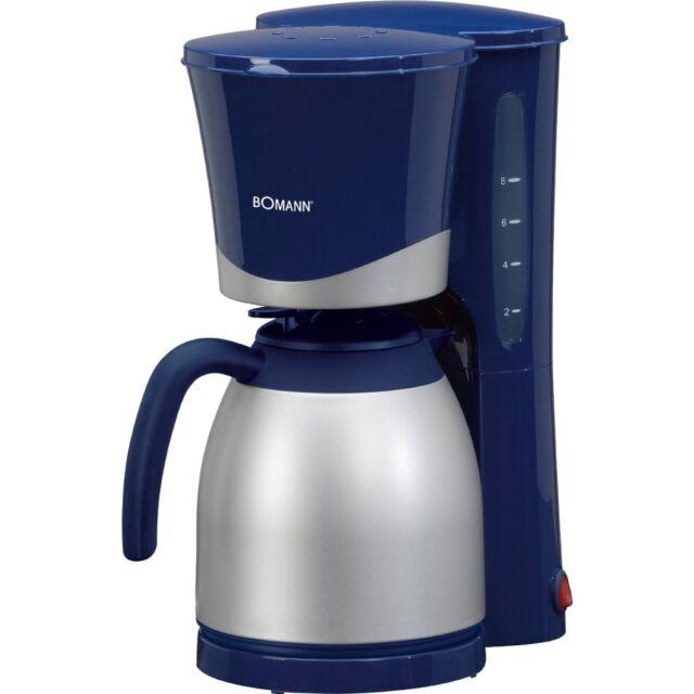 Bomann KA 168 CB Blau-Silber Filter-Kaffeemaschine 870 Watt Isolierkanne