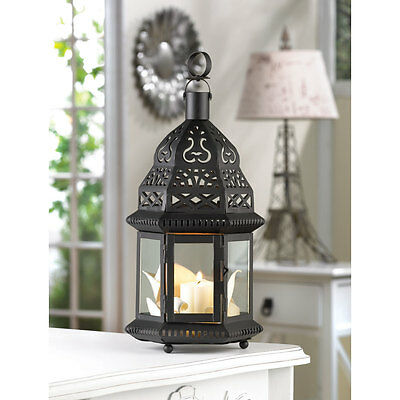 10 bulk Black Moroccan shabby Candle holder lantern wedding table centerpiece