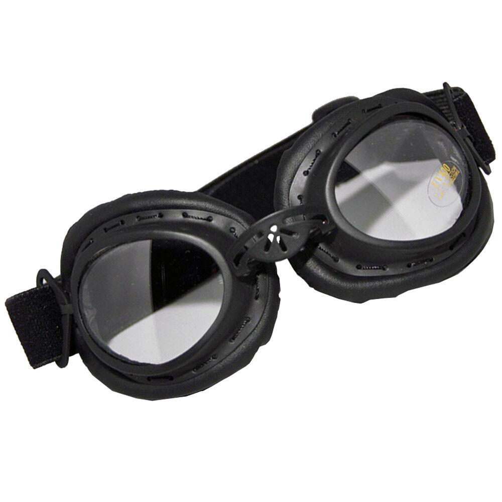 MFH Cabrio Biker-Brille Augenschutzbrille flexibler Nasensteg Gummiband schwarz