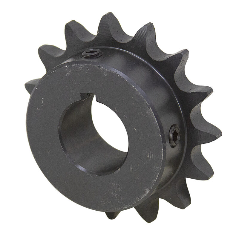 """12 Tooth 1-1/8"""" Bore 50 Pitch Roller Chain Sprocket 50BS12H-1-1/8 1-2124-12-F"""