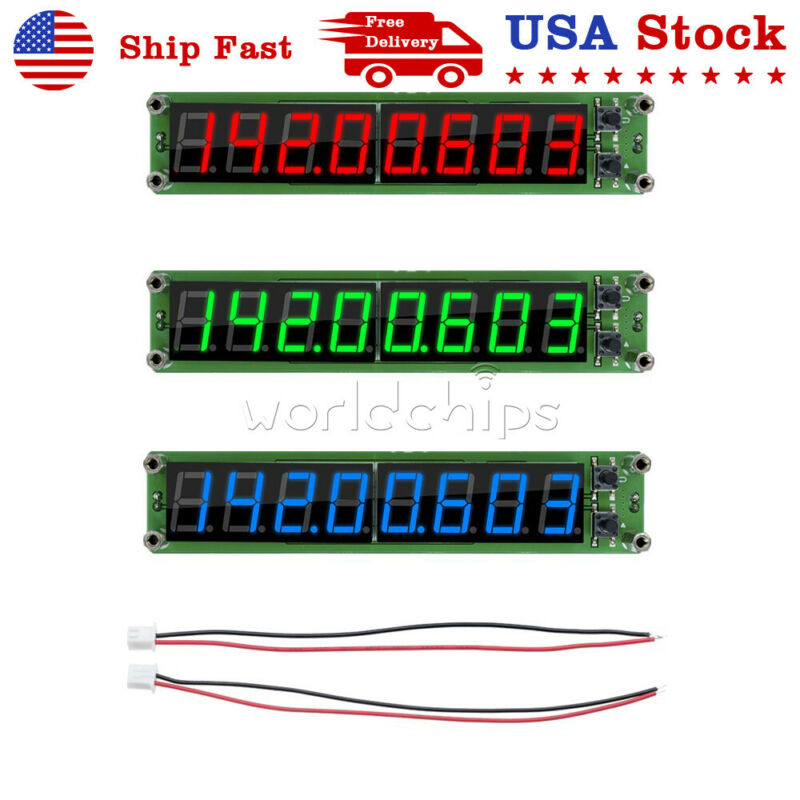 RF Signal Frequency Counter Cymometer Tester Meter 8 LED Display 0.1~2.4GHz US