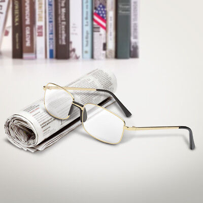 Clear Lens Glasses With Bifocal Reading Lens Full Rim Square Frame +1.0~4.0 (Clear Glasses With Reading Bifocal)
