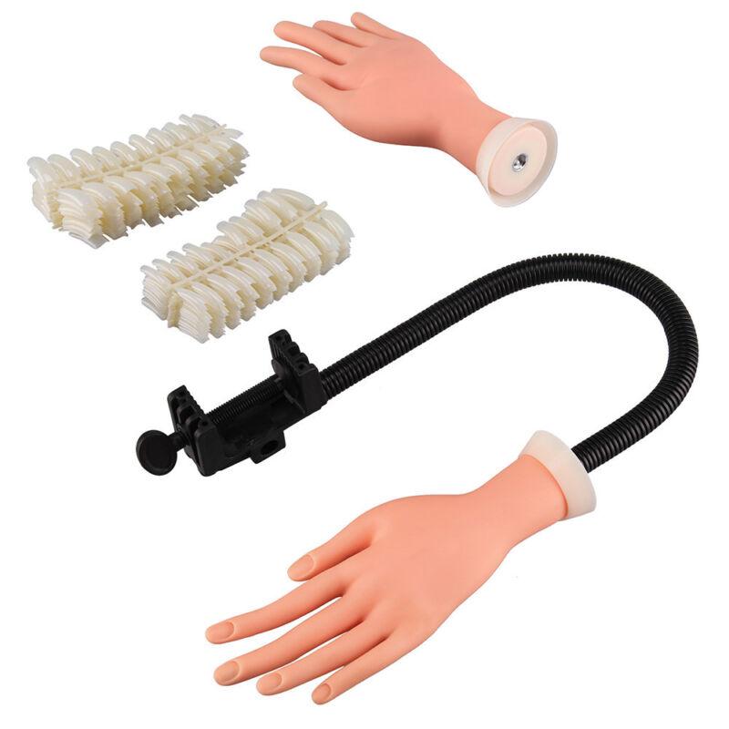 Practice Nail Art Training Model Hand Adjustable 5 Fake Finger Model ...