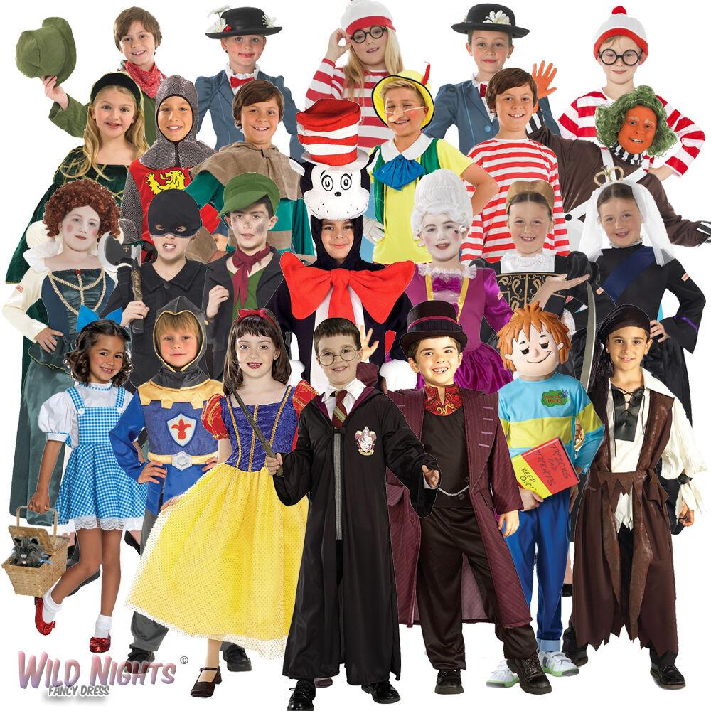 Age 3-13 Boys Childs Fancy Dress Costume KIDS WALLY STRIPED TOP BOOK WEEK