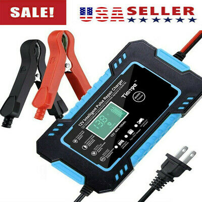 12V 6A Car Battery Charger Smart Auto Jump Starter Power Bank Booster Maintainer